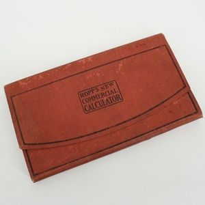 Vintage New Commercial Calculator Pocket Book